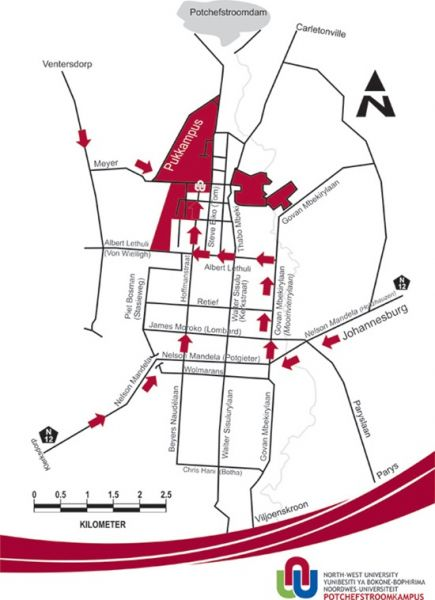 nwu potchefstroom campus map About The Venue nwu potchefstroom campus map
